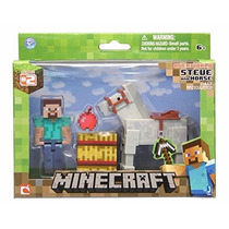 Minecraft Overworld Steve And Horse