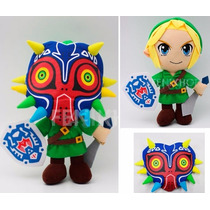 Peluche Link The Legend Of Zelda Majoras Mask Ocarina Espada