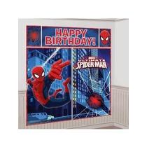Poster Para Decoracion Cumpleaños Fiesta De Spiderman