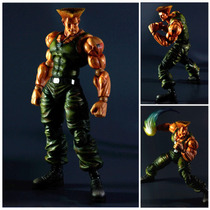 Street Fighter 4 Play Arts Kai Guile Figura Articulada 28cm