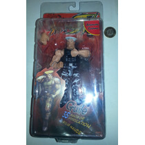 Street Fighter, Guile Color Gris, Neca Figura En Blister