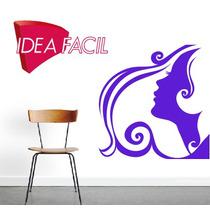 Vinilo Decorativo Mujer Salon De Belleza 110 B X 100 A