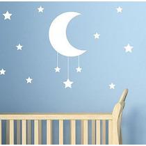 Hermoso Vinilo Decorativo Luna Estrellas Infantil Bebe