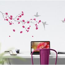 Vinilo Decorativo Rama Con Pájaros