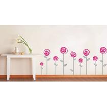 Hermoso Vinilo Decorativo Flores Sala Recámara Sticker