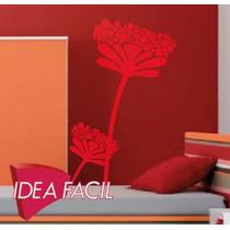 Vinilo Decorativo Rama Flores - 115 B X 190 A