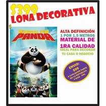 Lona Decorativa Kung Fu Panda Decoración Hd Afiche