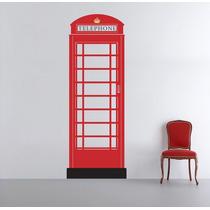 Vinilo Decorativo Caseta Telefónica Londres Inglaterra