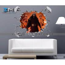 Vinilo Decorativo Star Wars Vii -i24 Muro Roto Kylo Ren