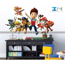 Vinilo Decorativo Paw Patrol 01, Calcomanía De Pared Perros