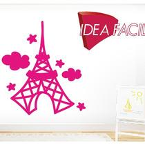 Vinilo Decorativo Infantil Torre Eiffel - 110 B X 100 A