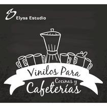 Vinilos Decorativos Para Cafeterías Y Cocinas.