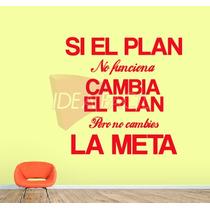 Vinilo Decorativo Texto El Plan 100 B X 100 A