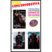 Lona Decorativa Civil War Hd Capitan America Iron Man Afiche