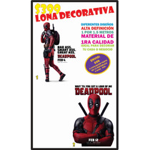 Lona Decorativa Deadpool Decoración Alta Definicion Afiche