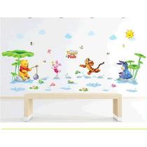Vinil Decorativo Winnie Pooh P / Baño O Habitación Infantil
