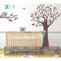 Vinilo Decorativo Árbol Infantil-i 63. Calcomanías Koalas.