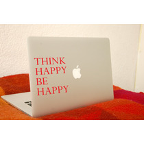 Vinil Decorativo Para Laptop Think Happy