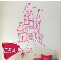 Vinilo Decorativo Infantil Castillo Princesa - 100 B X 110 A