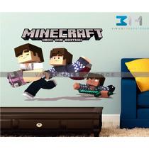 Vinilo Decorativo Minecraft 02, Sticker, Calcomanía De Pared