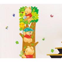 Vinilo Decorativo Sticker Bebes Regleta Pooh 23x68