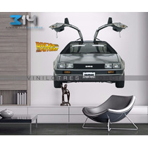 Vinilo Decorativo Volver Al Futuro 01 Carro Delorean Sticker