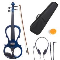 Violin Electrico Cecilio 4/4 Con Accesorios Azul Hm4