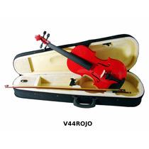Violin 4/4 Incluye Arco Brea Estuche Color Rojo