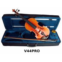 Violin 4/4 Semiprofesional Fabricado Madera Maple Incluye Ar