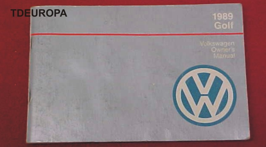 jpeg, Vw Golf Gl 1989 Manual De Usuario Usado Oem Americano Gt A2