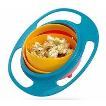 Practico Tazon Plato Magico Gyro Bowl Para Comida Niños Bebe