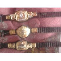 Paquete De 3 Cinturones Wwe, Pesados Y De Parejas.