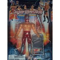 Figura De Luchador Mexicano Volador Jr Con Mascar Lucha Libr