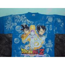Playera Dragon Ball Z Goku Vegeta Freezer Gold Talla L Adult