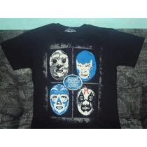Playera Blue Demon Santo Mil Mascaras Huracan Lucha Libre Mx