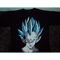 Playera Dragon Ball Z De Vegeta Super Sayayin Dios Talla 10