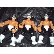 Lote 3 Luchadores Los Dinamita Cien Caras Universo Y Mascara