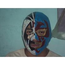 Mascara De Luchador Mil Mascaras 2 Caras P/adulto Semiprofes