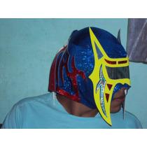 Mascara De Luchador Abismo Negro P/adulto Semiprofesional