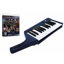 Teclado + Juego Rock Band 3 Piano Nuevo Ps3 Blakhelmet Sp