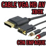Cable Vga Xbox 360 Audio Y Video Monitor D Computadoras Blis