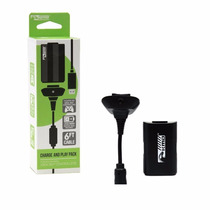 Kit Carga Y Juega Control De Xbox 360 Bateria Cable Usb Kmd
