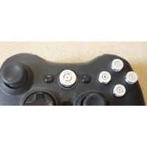 Botones Tipo Bala Plata / Dorado Abxy Guia Control Xbox 360