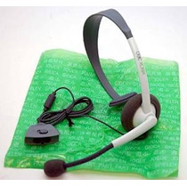 Microsoft Oficial Wired Headset Para Xbox 360, Blanco, Model