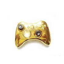 Carcasa Control Xbox 360 Cromada Gold, Dorado.