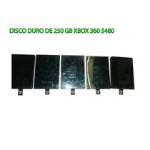 Disco Duro Xbox 360 De 250 Gb Seminuevo $480