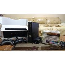 Xbox 360 Slim 120 Gb + Kinect + Juegos + Accesorios