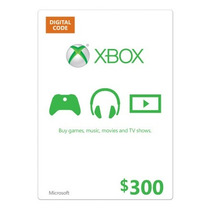 Tarjeta De 300 Pesos Xbox Live Xbox 360 Xbox One Microsoft