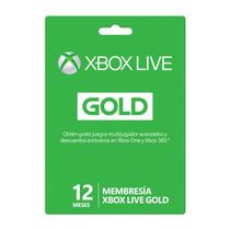 Tarjetas Xbox Live 12 Meses