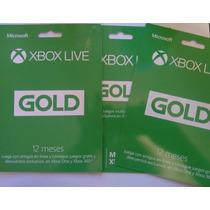 Tarjeta 12 Meses Xbox Live Gold No Perfil 360 Y One